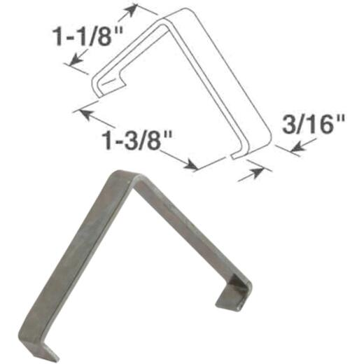 "Prime-Line 1-1/8"" X 1-3/8"" X 3/16"" Spring Steel Insert Clip (25 Count)"