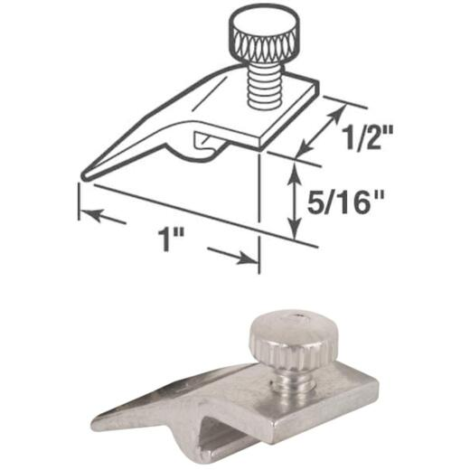 Prime-Line 1/2 In. W. x 5/16 In. H. x 1 In. L. Storm Door Panel Clip (8 Count)