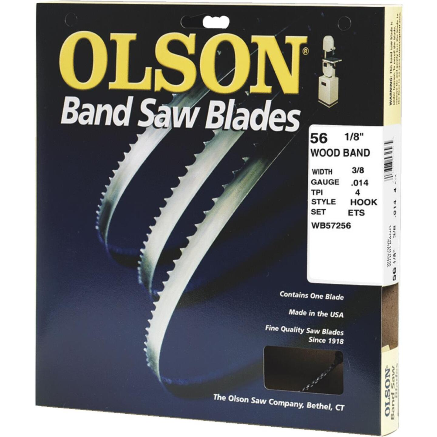 Olson 56-1/8 In. x 3/8 In. 4 TPI Hook Wood Cutting Band Saw Blade Image 1