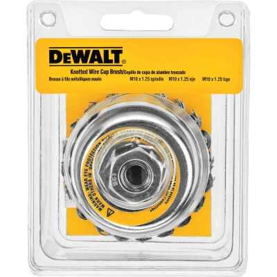 DeWalt 4 In. Knotted 0.020 In. Angle Grinder Wire Brush