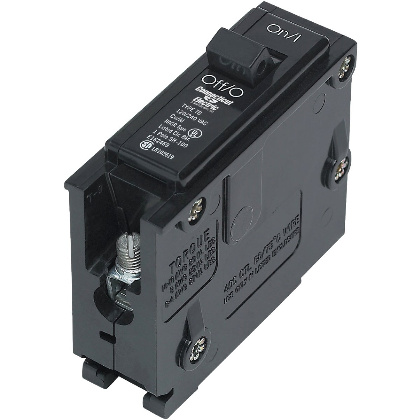 Connecticut Electric 15A Single-Pole Standard Trip Interchangeable Packaged Circuit Breaker Image 1