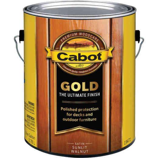Cabot Gold Low VOC Exterior Stain, Sunlit Walnut, 1 Gal.