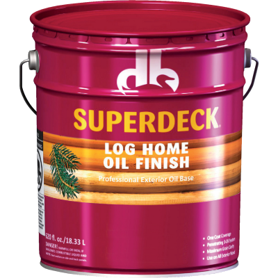 Duckback SUPERDECK VOC Translucent Log Home Oil Finish, Autumn Brown, 5 Gal.