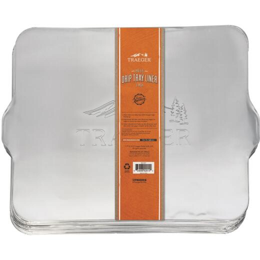 Traeger Aluminum Pro 575, Pro 22, Pro 20, Eastwood 22 Drip Tray Liner (5-Pack)
